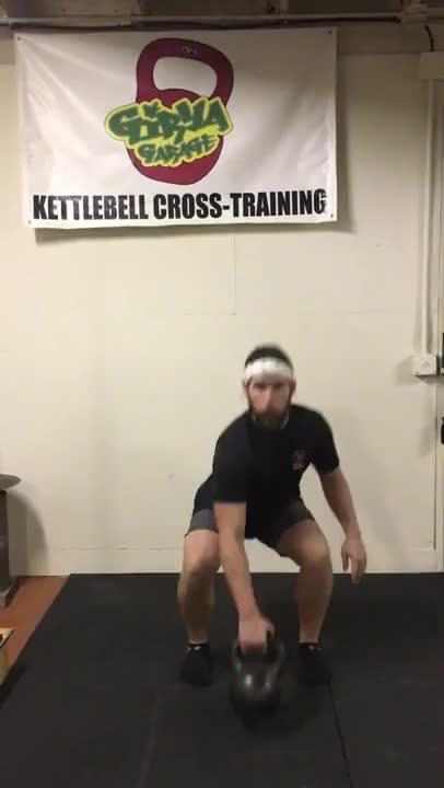 Kettlebell Alternating Swing Catch demonstration