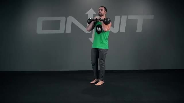 Double Kettlebell Reverse Lunge demonstration