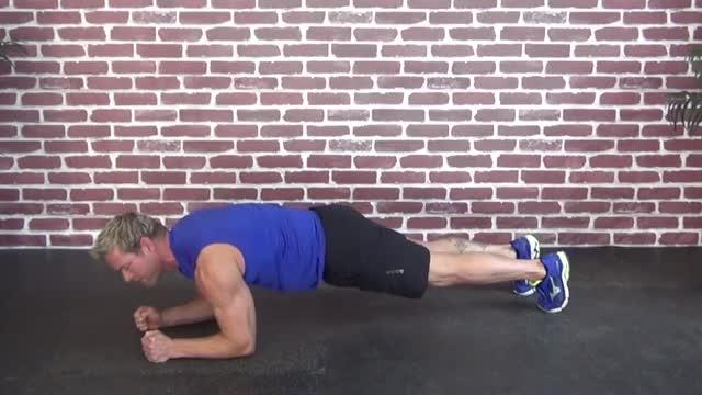 Elbow Plank demonstration