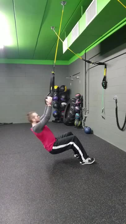 Suspended Self-assisted Pull-up demonstration
