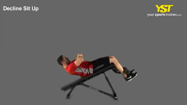 Male Decline Sit Up demonstration