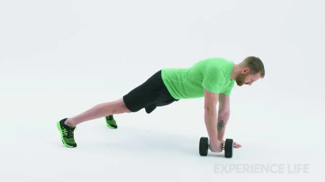 One-Arm Plank To Row demonstration