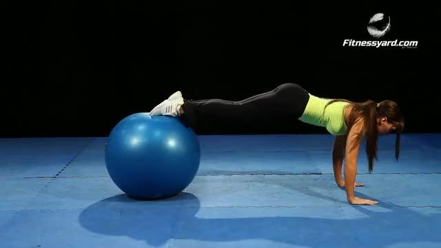 Female Swiss Ball Pike demonstration