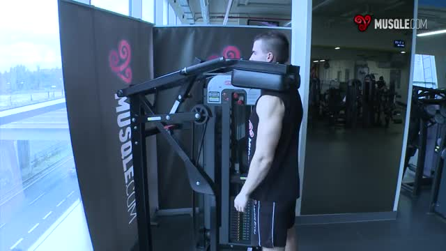 Standing Calf Machine Shrug demonstration