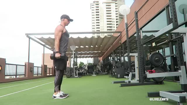 Dumbbell Lunge and Curl demonstration