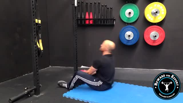 Medicine Ball Chest Throw Sit-up (on wall) demonstration