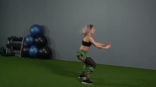 Female Double Leg Butt Kick demonstration