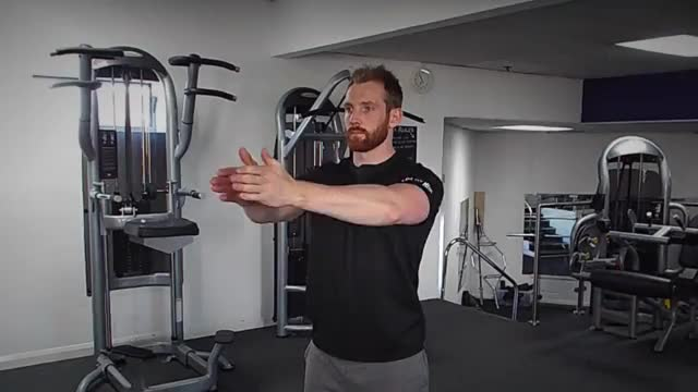 Dynamic Chest Stretch demonstration