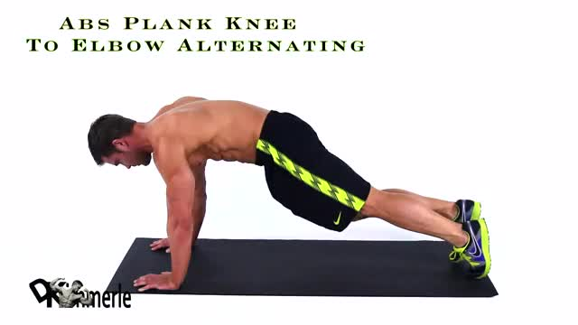 Plank with Knee to Elbow demonstration