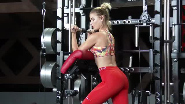 Female Cable Standing Preacher Curl demonstration