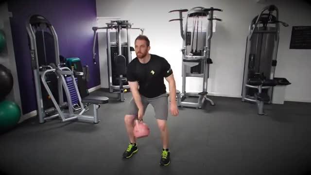 One-Arm Kettlebell Split Snatch demonstration