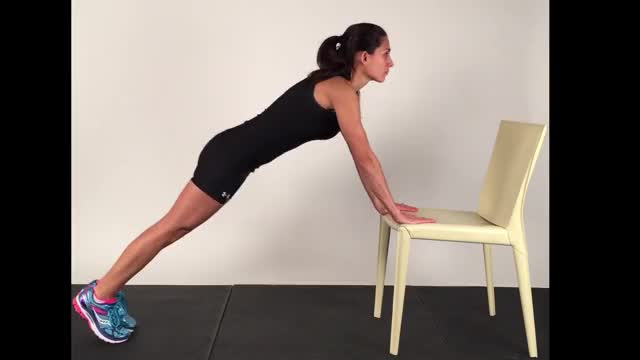 Chair Pushup demonstration