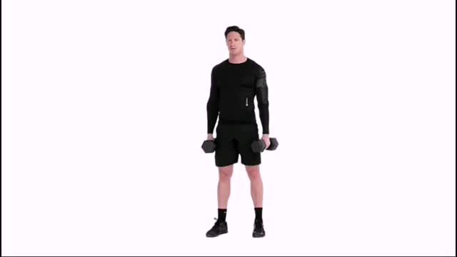 Dumbbell Biceps Curl with Static Hold demonstration