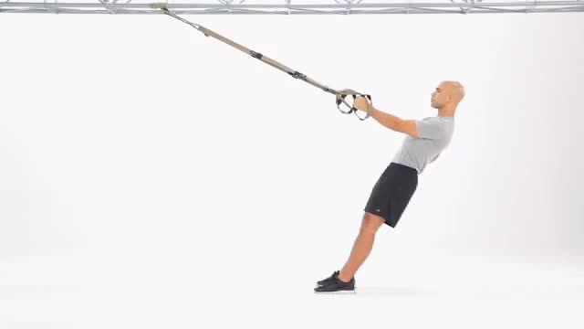 Male Suspension One Arm Row demonstration