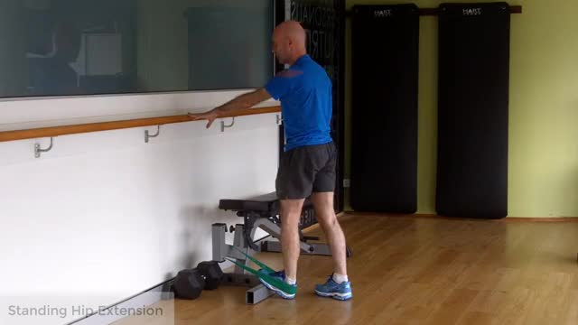 Standing Hip Extension with Bands demonstration