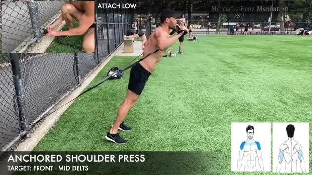 TRX Anchored Shoulder Press demonstration