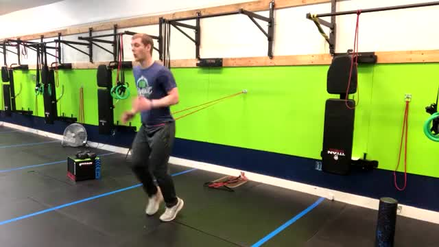 Resistance Band Sprints demonstration