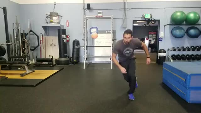 Male Ice Skater with Stabilization demonstration