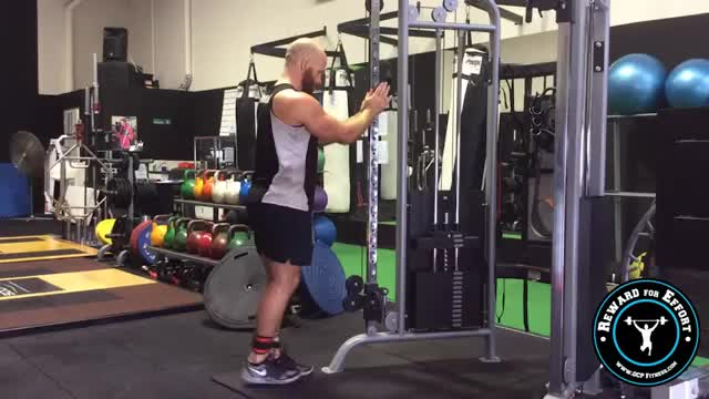 Standing Cable Hamstring Curl demonstration