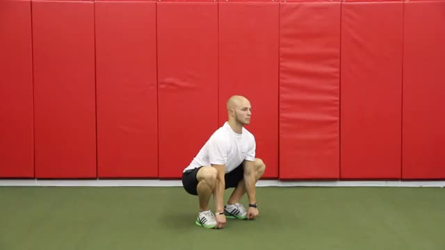 Sumo Squat to Stand demonstration