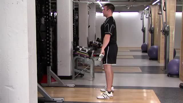 Male Hang Jump Shrug demonstration