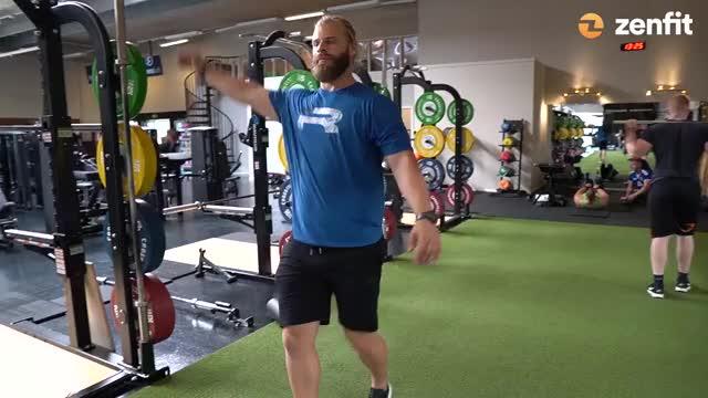 Alternating Leg Swing demonstration