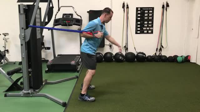 Single-Arm Standing Chest Press (with Band) demonstration
