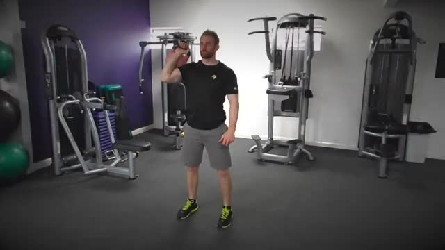 One-Arm Kettlebell Split Jerk demonstration