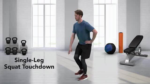 Single-Leg Squat Touchdown demonstration