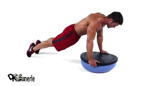 BOSU Ball Push-Up demonstration