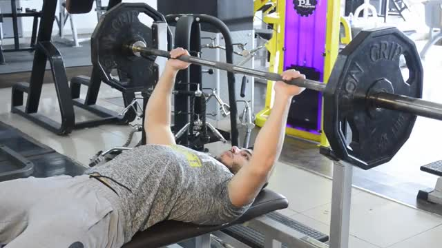 Wide-Grip Barbell Bench Press demonstration