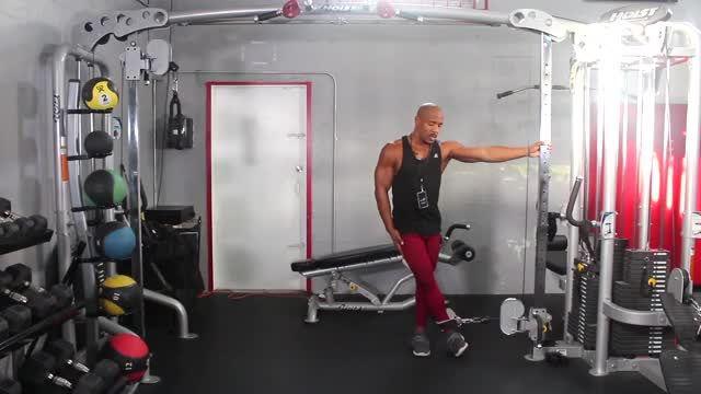 Standing Cable Hip Abduction demonstration